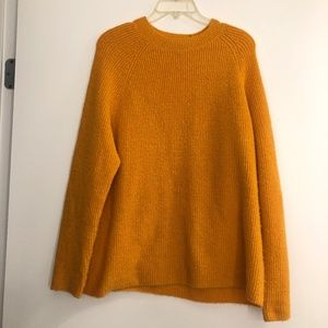 Asos Mustard Crew Neck fuzzy Sweater